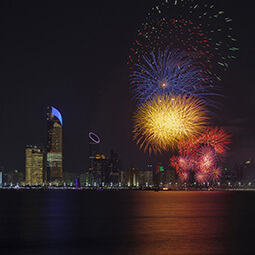 fireworks city celebration night river photo real UGC travel content photography